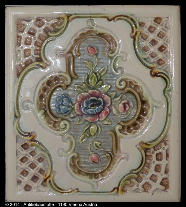 Blumen Motiv Kachel Detail